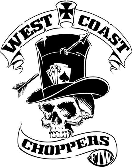 Wcc2151 west osat choppers crane squelette style pochoir