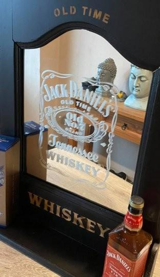 Mirroir jack daniels whiskey eric