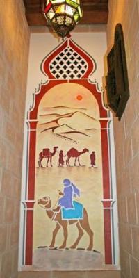 photo pochoir porte orientale