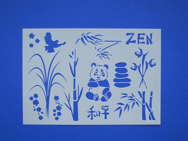 pochoir scrap Zen
