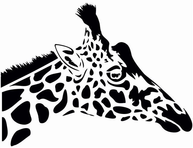 Afri20095 tete de girafe pochoir