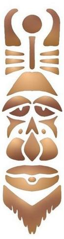 Afric15 pochoir masque africain 1