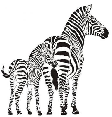 Afric394 zebres pochoir mon artisane style pochoir zebreau