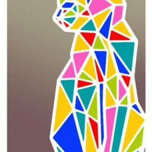 An12487 chat geometrique pochoir a peindre couleur p
