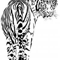 An1291 tigre pochoir a peindre
