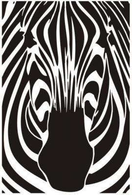 An1548 zebre de face pochoir a peindre