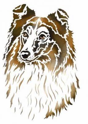 An2009 chien colley pochoir a peindre