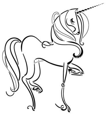 An3478 licorne unicorn pochoir stencil mon artisane style pochoir