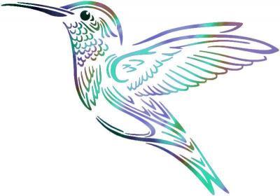 An801 colibri pochoir a peindre couleur