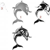 Ani47181 dauphin pochoir 3 parties style pochoir mon artisane