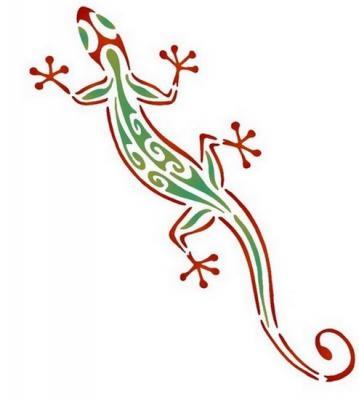 Anisp050 pochoir gecko style pochoir