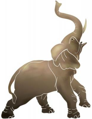 Anisp0651 pochoir elephant style pochoir