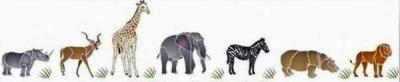 Anisp120 pochoir frise safari style pochoir