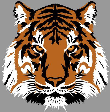 Anisp213 pochoir tete tigre 3d en 3 pochoirs style pochoir