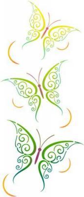 Anisp934 pochoir frise papillons verticale style pochoir