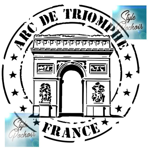 Arc de triomphe pochoir france style pochoir stencil paris