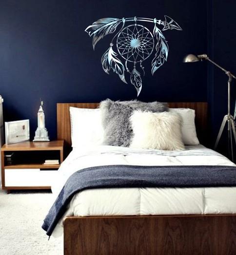 Attrape reve peint tete de lit chambre enfant pochoir style pochoir monn art