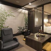 Bambou deux angles pochoir peint sur mur