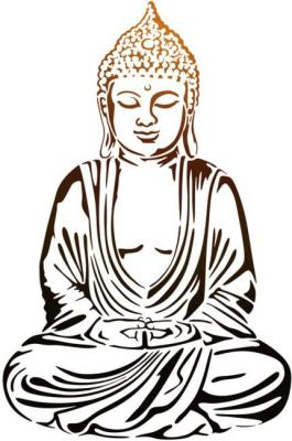 Bou41 pochoir bouddha sagesse