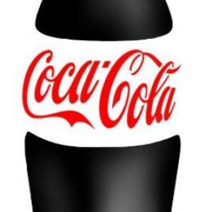 Bouteille de coca cola pochoir a peindre logo marque