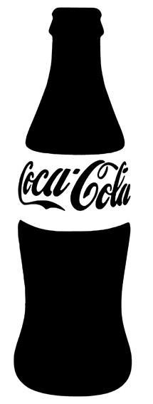 Bouteille de coca cola pochoir p