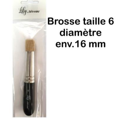 Brosse pochoir taille 6 lily
