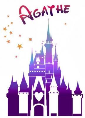 Chateau de princesse pochoir prenom au choix