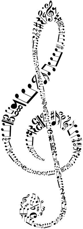 Clef de sol pochoir musique div9233 style pochoir