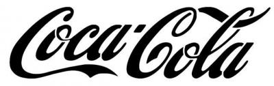 Coca cola pochoir a peindre logo marque