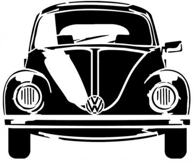 Coccinelle volkswagen de face beetle pochoir