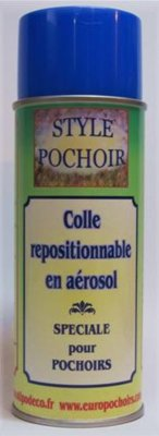 Colle repositionnable pour pochoirs
