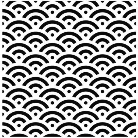 D12475 motif fond ecaille asiatique repetition pochoir a peindre p