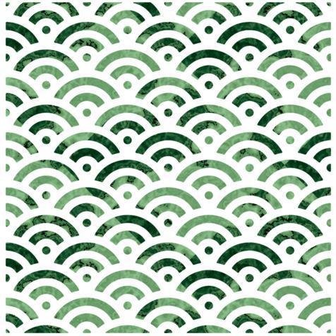 D12475 motif fond ecaille asiatique repetition pochoir a peindre pcoul
