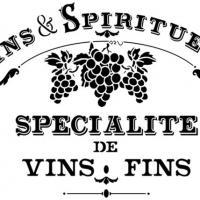 D2640 pochoir vins spiritueux vigne chateau vignoble pour bar a vin bouteille de vin pochoir mural
