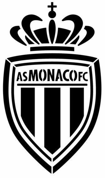 D3203 as monaco foot logo club pochoir a peindre