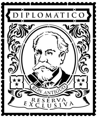 D87145 pochoir rhum diplomatico stencil pp