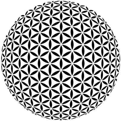 D9784 grande rosace sphere pochoir