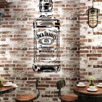 Decor mural bouteille jack daniels pochoir style pochoir mon artisane wall stencil