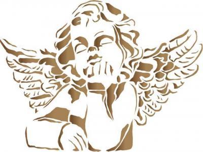 Div3225 angelot ange pochoir