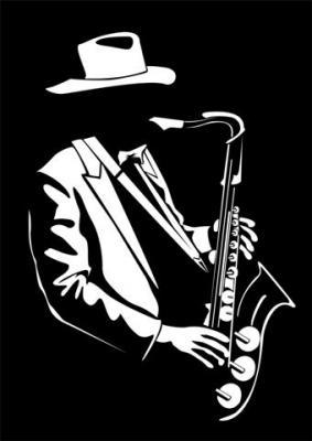 Div364002 musicien saxophone jazzman pochoir style pochoir