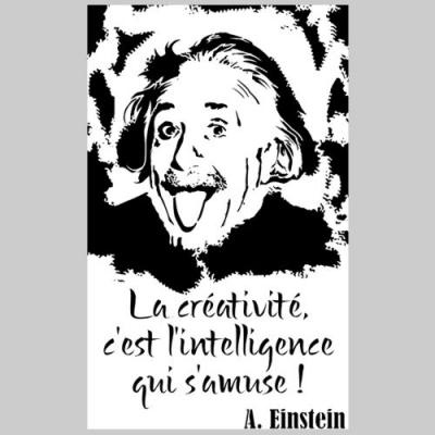 Div3984 einstein citation creativite pochoir style pochoir