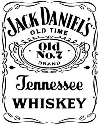 Div87236 pochoir jack daniels whiskey tennessee