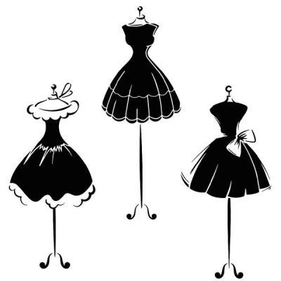 Div91214 pochoir petite robe noire style pochoir mon artisane