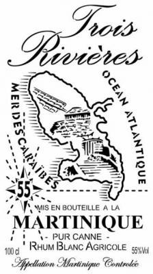 Etiquette bouteille 3 rivieres pochoir logo marque rum rhum a peindre