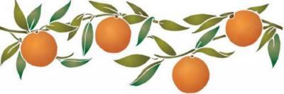 Fl011 pochoir fruits oranges horizontales style pochoir