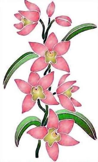 Fl013 pochoir orchidee style pochoir 1