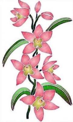 Fl013 pochoir orchidee style pochoir