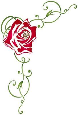 Fl10001 pochoir rose angle design style pochoir mon artisane
