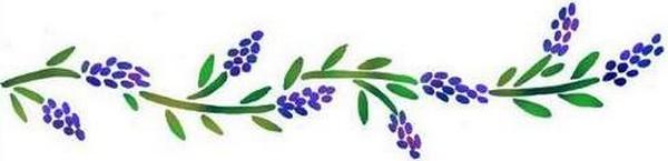 Fl135 pochoir fleur lavande 3