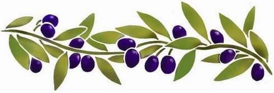 Fl18 pochoir frise olives style pochoir 1
